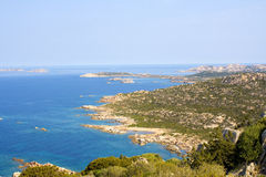 La Maddalena island coastline. Scenic view of coastal bay on La Maddalena coastline; Sardinia, Italy Royalty Free Stock Photography