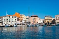 La Maddalena island, Sardinia, Italy. La Maddalena village in La Maddalena island, Sardinia, Italy Stock Photos
