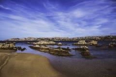 La Maddalena, Italien, Strand stockfoto