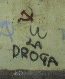 La Maddalena, Sardinien, Italien, kommunistische Symbole stockbild