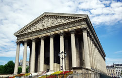 La Madeleine church. In Paris royalty free stock photography