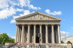 La Madeleine Church em Paris, França Fotografia de Stock
