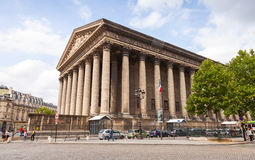La Madeleine church exterior, Paris, France Royalty Free Stock Photography