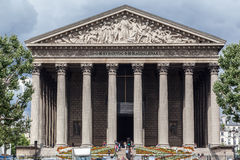 La Madeleine Church Paris Stock Afbeeldingen