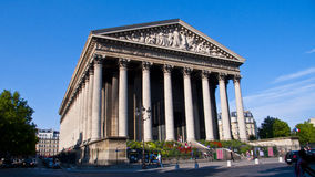 La Madeleine Church. Paris. France. Stock Photography
