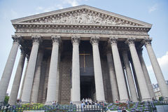 La Madeleine, church in Paris, France. Stock Photography