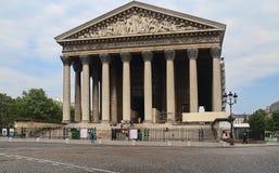 La Madeleine church in Paris, France Royalty Free Stock Photos