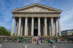 La Madeleine Church in Paris, France is a popular tourist destination Royalty Free Stock Photos
