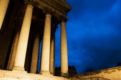 La madeleine church in Paris by night Royalty Free Stock Photos