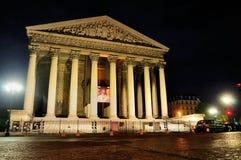 La Madeleine em Noite, Paris Foto de Stock