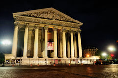 La Madeleine par Night, Paris Photo stock