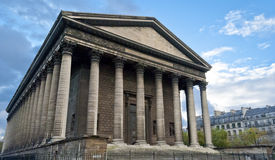 La Madeleine, Paris. La Madeleine church facade view, Paris Royalty Free Stock Photos