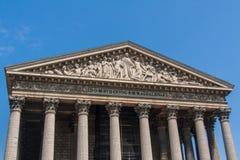 La Madeleine, Roman Catholic church, Paris, France. L`église de la Madeleine , Madeleine Church; more formally, L`église Sainte-Marie-Madeleine; less formally Stock Photography