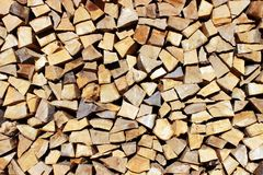 La madera preparada para calentar fotos de archivo