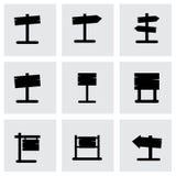 La madera vieja del vector canta el sistema del icono Fotografía de archivo libre de regalías
