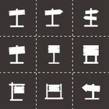 La madera vieja del vector canta el sistema del icono Imágenes de archivo libres de regalías