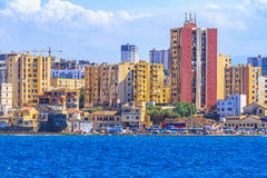 La madraque in Algiers. An overview of Algiers in Algeria royalty free stock image