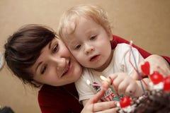 La madre ed il suo figlio Fotografie Stock Libere da Diritti