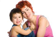 La madre tiene il figlio Fotografie Stock Libere da Diritti