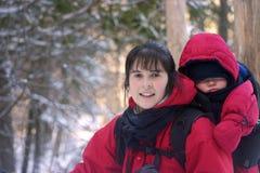 El caminar del invierno Imagen de archivo