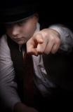 La mafia rimane nelle ombre Immagini Stock Libere da Diritti