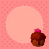La magdalena de la tarjeta del día de San Valentín Imagen de archivo libre de regalías