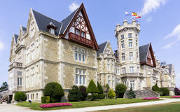 La Magdalena palace. In Santander, Cantabria, Spain; a former Summer Royal Palace, now campus of the International University Menendez Pelayo Stock Photography