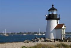 La maggior parte del faro popolare sull'isola di Nantucket immagine stock