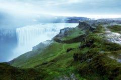 La maggior parte della cascata potente Dettifoss Fotografia Stock Libera da Diritti