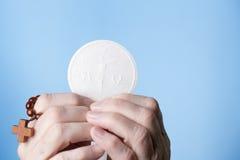 La maggior parte della eucaristia santa Fotografie Stock Libere da Diritti