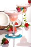 La maggior parte della serie popolare dei cocktail - fragola Colada immagine stock