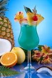 La maggior parte della serie popolare dei cocktail - Hawaiian blu Immagini Stock Libere da Diritti