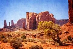 La maggior parte della vista interessante della valle del monumento Fotografia Stock Libera da Diritti