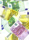 La maggior parte di euro note importanti Fotografia Stock Libera da Diritti