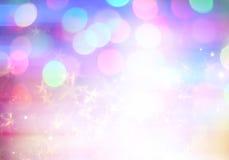 La magia abstracta stars el fondo Fotografía de archivo libre de regalías