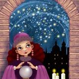La magia di una notte stellata royalty illustrazione gratis