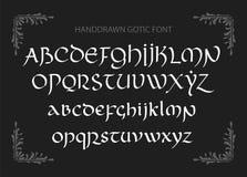 La magie décorative de vintage a dénommé des lettres Manuscrit de vecteur illustration libre de droits