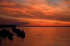 La magie d'un beau lever de soleil ! Images stock