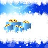 La magie des cadeaux de Noël Image stock