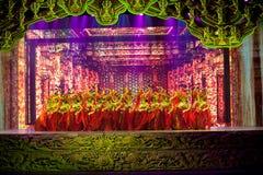 La magie magique historique de découpage fine de drame de chanson et de danse de style d'étape-Le - Gan Po Images libres de droits