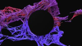 La maglia futuristica della particella/logo circolare rivela video d archivio