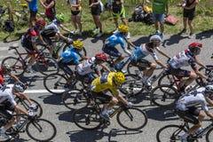 La maglia gialla - Tour de France 2018 Immagine Stock Libera da Diritti