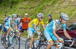 La maglia gialla - Vincenzo Nibali Fotografia Stock