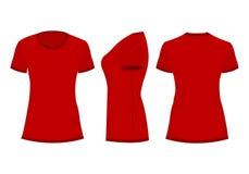 La maglietta della donna rossa royalty illustrazione gratis