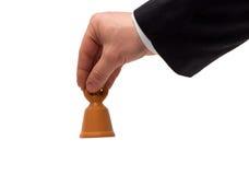 La main avec une cloche photo libre de droits