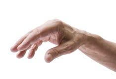 La main d'homme aîné Photo libre de droits