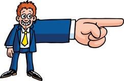 La main d'homme d'affaires Illustration Stock