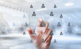 la main d'homme d'affaires dirige les ressources humaines comme concept photos stock