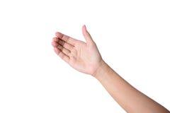 La main de femme aiment tenir le téléphone portable Images stock