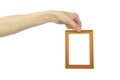 La main de l'homme avec la trame photographie stock libre de droits